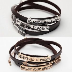Boho Moon Leather Wrap Bracelet Follow Your Arrow